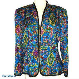 Adrianna Papell Vintage Silk Jacket Sz 16